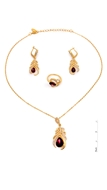 Picture of Online Wholesale Gold Plated Crystal 3 Pieces Jewelry Sets