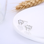 Picture of Trendiest Styled White Platinum Plated Stud