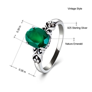 Picture of 925 Sterling Silver Daily Solitaire Rings 3AS050471R