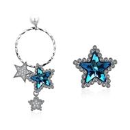 Show details for  925 Sterling Silver Swarovski Element Dangle Earrings 3LK053663E