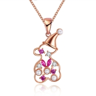 Show details for  Cubic Zirconia 18 Inch Pendant Necklaces 3LK053772N