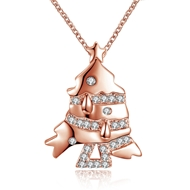 Show details for  Cubic Zirconia Copper Or Brass Pendant Necklaces 3LK053796N