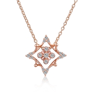 Show details for  Holiday Copper Or Brass Pendant Necklaces 3LK053802N