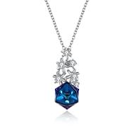 Show details for  Simple Swarovski Element Pendant Necklaces 3LK054355N