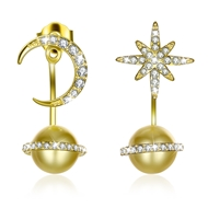 Show details for  Casual Artificial Pearl Dangle Earrings 3LK054364E