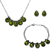 Picture of Unique Artificial Crystal 16 Inch 3 Piece Jewelry Set