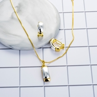 Picture of 16 Inch Zinc Alloy Necklace and Earring Set in Exclusive Design