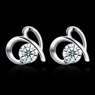 Picture of Fashion Watches Making Supplier White Platinum Plated Stud