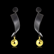 Picture of Distinctive Multi-tone Plated Zinc Alloy Dangle Earrings with Low MOQ