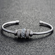 Picture of Best Swarovski Element Zinc Alloy Fashion Bangle