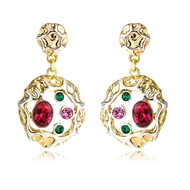 Picture of Zinc Alloy Casual Dangle Earrings with Low MOQ