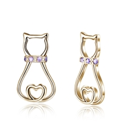 Picture of New Season Purple Cat Stud Earrings with SGS/ISO Certification