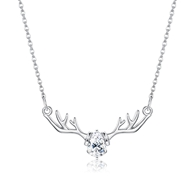 Show details for 925 Sterling Silver Casual Pendant Necklace in Flattering Style