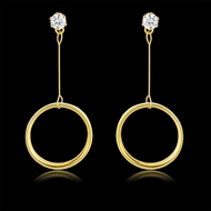 Picture of Impressive White Gold Plated Dangle Earrings