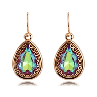 Picture of Affordable Gold Plated Artificial Crystal Dangle Earrings From Reliable Factory