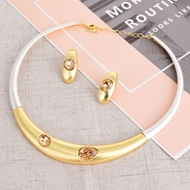 Picture of Best Selling Dubai Rose Gold Plated Necklace and Earring Set