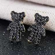 Picture of Brand New White Cubic Zirconia Stud Earrings in Flattering Style