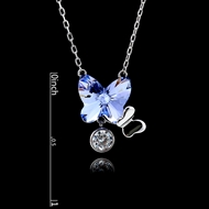 Picture of 925 Sterling Silver Butterfly Pendant Necklace with Unbeatable Quality