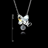 Picture of Casual Platinum Plated Pendant Necklace in Flattering Style