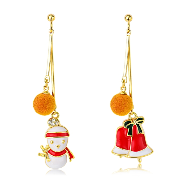 Picture of Attractive Yellow Copper or Brass Dangle Earrings For Your Occasions