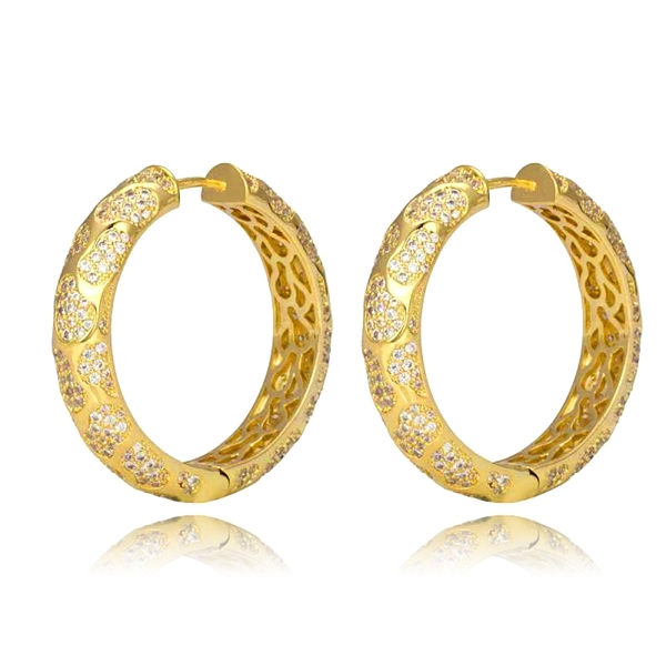 Picture of Luxury White Big Hoop Earrings with Worldwide Shipping