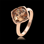 Picture of Distinctive Rose Gold Plated Swarovski Element Fashion Ring with Low MOQ