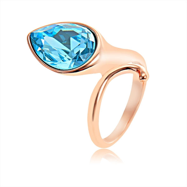 Picture of Most Popular Swarovski Element Platinum Plated Fashion Ring