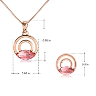 Picture of Low Cost Rose Gold Plated Classic Necklace and Earring Set with Low Cost