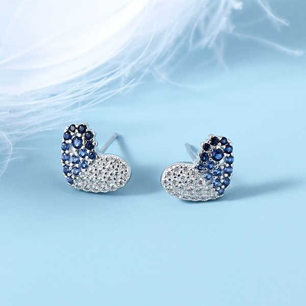 Picture of Sparkly Small 925 Sterling Silver Stud Earrings