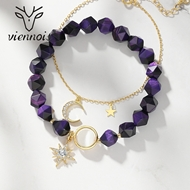 Picture of Gold Plated Purple Charm Bracelet Exclusive Online