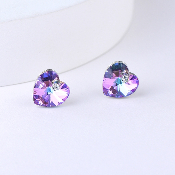 Picture of Recommended Colorful Love & Heart Stud Earrings from Top Designer
