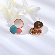 Picture of Classic Rose Gold Plated Stud Earrings in Flattering Style