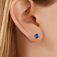 Picture of Top Cubic Zirconia White Stud Earrings