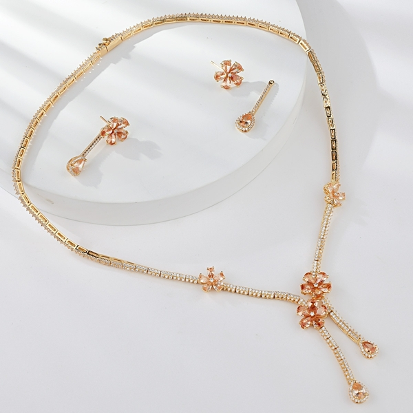 Picture of Purchase Platinum Plated Luxury 3 Piece Jewelry Set Exclusive Online
