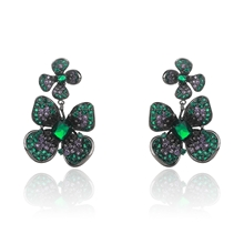 Picture of Latest Big Green Dangle Earrings